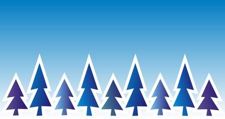 tree, winter landscape, background