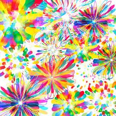 Vector flower background illustration.