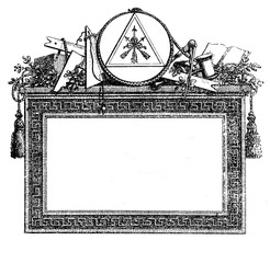 XVIII century engraving, Nuremberg masonic lodge invitation