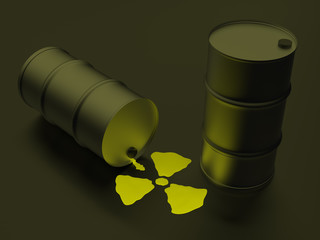 Radioactivity sign in the form of nuclear liquid