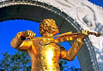 Golden Strauss monument
