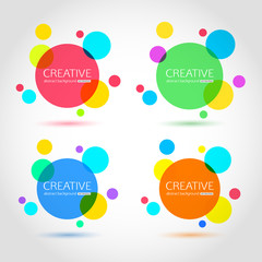 Abstract circle template for your design. Vector collection of colorful circles EPS 10 format.