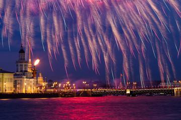 Fireworks over Neva