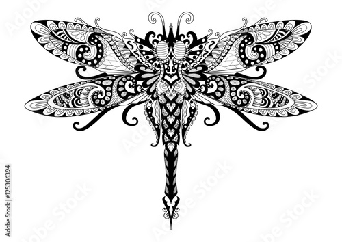 quot Doodles design of dragonfly for