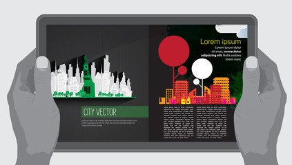 E-Magazine layout design. Vector easy to editable