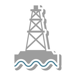 tower oil exploration industry vector illustration design