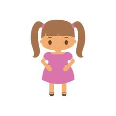 happy girl character avatar vector illustration design