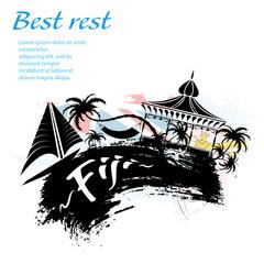 Travel Fiji grunge style