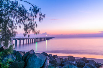 Fototapeta The Iconic Urangan Pier, Hervey Bay, Queensland, Australia. obraz