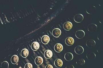 Old Rusty Typewriter