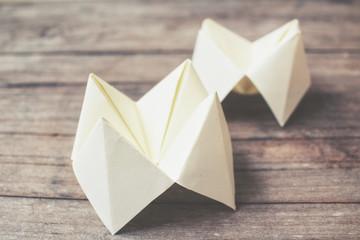 Origami paper fortune teller