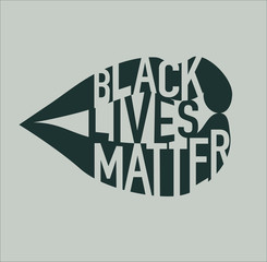 Black Lives Matter Illustration with Lips and Typography