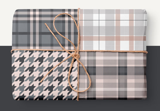 Plaid Patterns Set