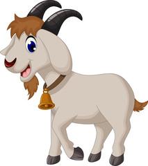 cartoon goat posing