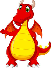 red dragon cartoon posing