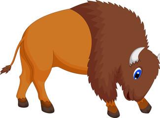 cute bison cartoon