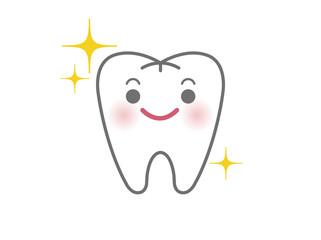 白い歯のキャラクター(キラキライメージ)