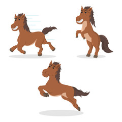 horse set illustration design