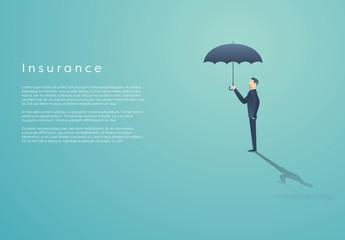Businessperson with Umbrella Illustration