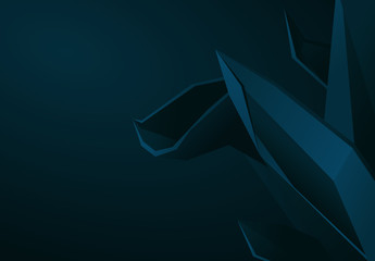 3D Abstract Polygonal Background Illustration