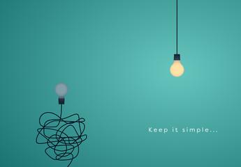 """""""Keep it Simple"""" Lightbulb Illustration"""
