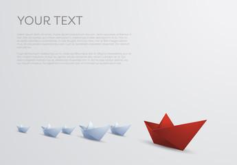 Paper Boats Illustration