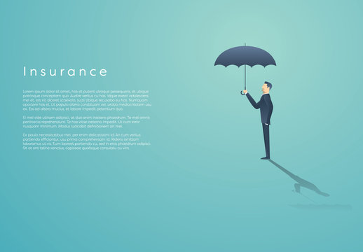 Businessperson with Umbrella Illustration