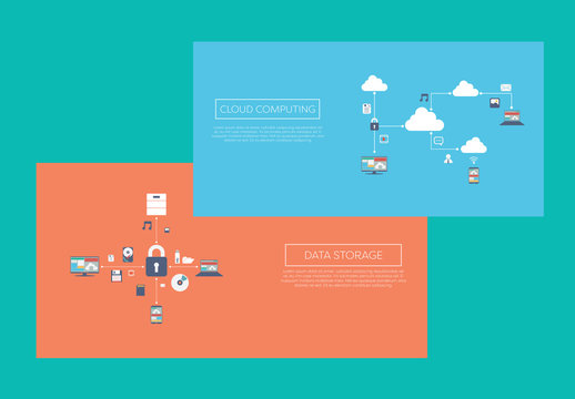 2 Illustrated Cloud Computing Banners 1