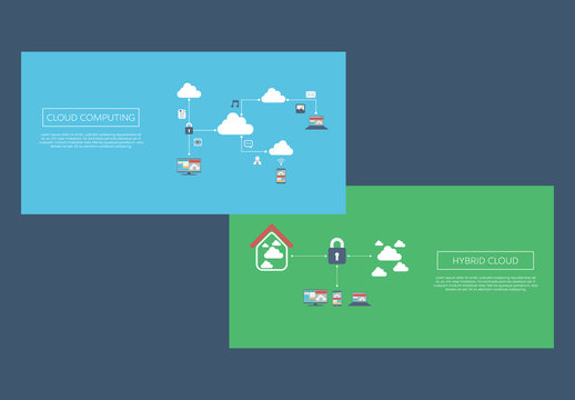 2 Illustrated Cloud Computing Banners 2