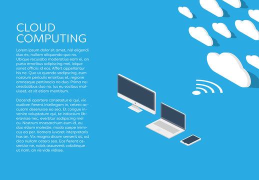 Minimalist Cloud Computing Infographic