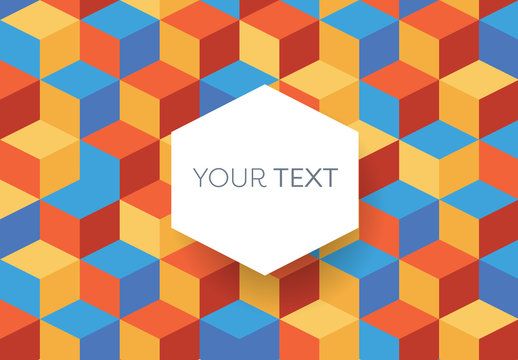 Colorful Isometric Background Illustration