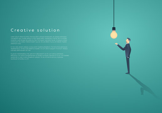 Businessperson with Lightbulb Infographic