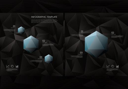 Dark Polygonal Infographics