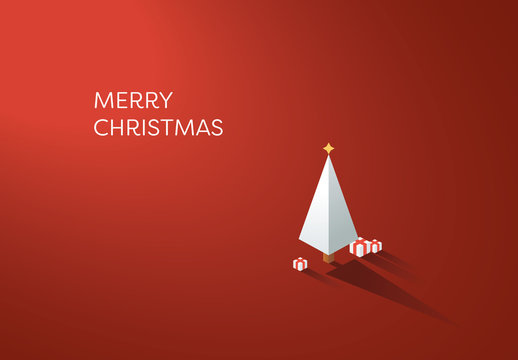 Holiday Greeting Card with Tree