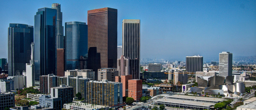 Downtown Los angeles and Disney Concert Hall