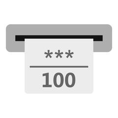 Winning cheque in casino icon. Flat illustration of winning cheque in casino vector icon for web