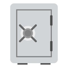 Safety deposit box icon. Flat illustration of safety deposit box vector icon for web