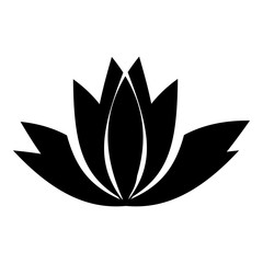 Lotus flower icon. Simple illustration of lotus flower vector icon for web