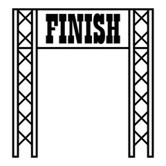 Gates racing finish icon. Outline illustration of gates racing finish vector icon for web