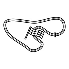 Speedway icon. Outline illustration of speedway vector icon for web