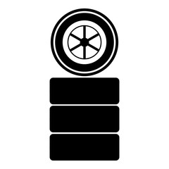 Racing wheel icon. Simple illustration of racing wheel vector icon for web