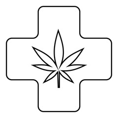 Medical marijuana icon. Outline illustration of medical marijuana vector icon for web