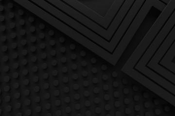 black vintage retro pattern background line 3d rendering