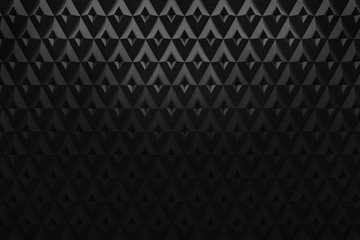 abstract black diamond triangle pattern background 3d rendering