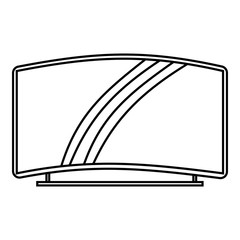 Curved TV icon. Outline illustration of curved TV vector icon for web