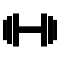 Dumbbell icon. Simple illustration of dumbbell vector icon for web