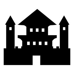 Ancient palace icon. Simple illustration of ancient palace vector icon for web