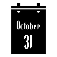 Calendar thirty first of October icon. Simple illustration of calendar thirty first of October vector icon for web