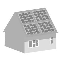 Smart home icon. Gray monochrome illustration of smart home vector icon for web