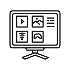 smart tv vector illustration design